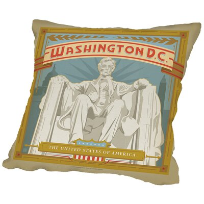 Washdc Throw Pillow Size: 16 H x 16 W x 2 D