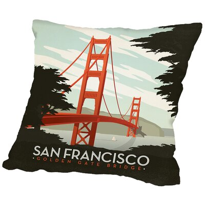 Sanfran Throw Pillow Size: 18 H x 18 W x 2 D