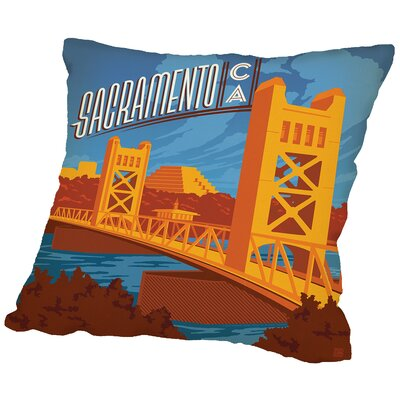 Sacramento Throw Pillow Size: 16 H x 16 W x 2 D