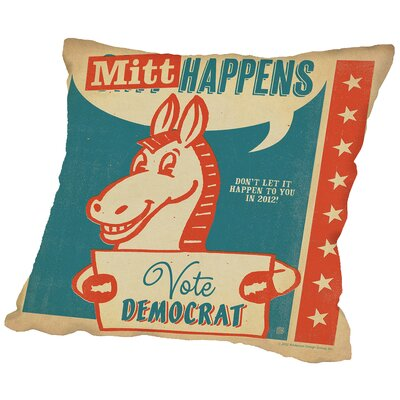 Mitt Happens Throw Pillow Size: 16