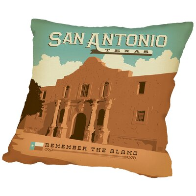 Sanantonio Throw Pillow Size: 18 H x 18 W x 2 D