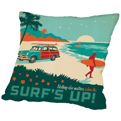 Surfsup Throw Pillow Size: 16 H x 16 W x 2 D