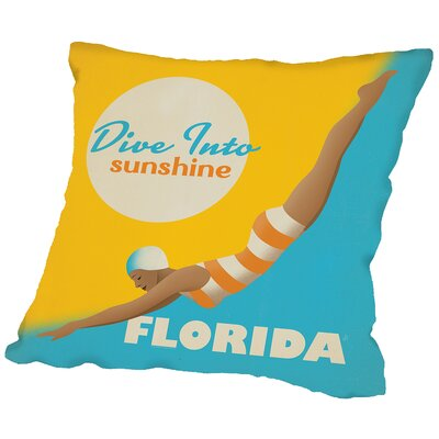 Divesunshine Fl Throw Pillow Size: 18 H x 18 W x 2 D