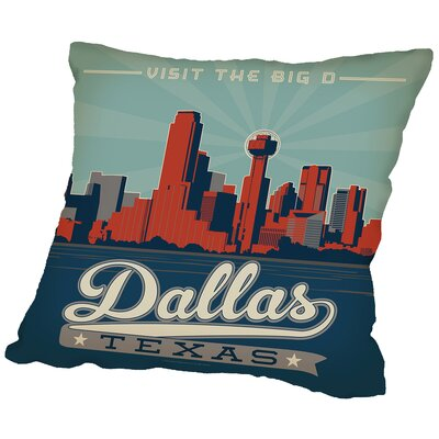 Dallas Throw Pillow Size: 20 H x 20 W x 2 D