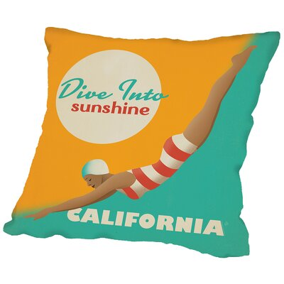 Divesunshine Ca Throw Pillow Size: 16 H x 16 W x 2 D