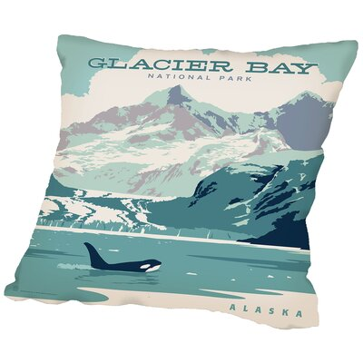 Glacier Bay Np Throw Pillow Size: 18 H x 18 W x 2 D