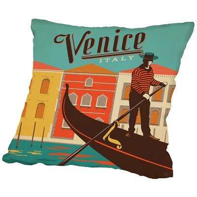 Venice Throw Pillow Size: 14 H x 14 W x 2 D
