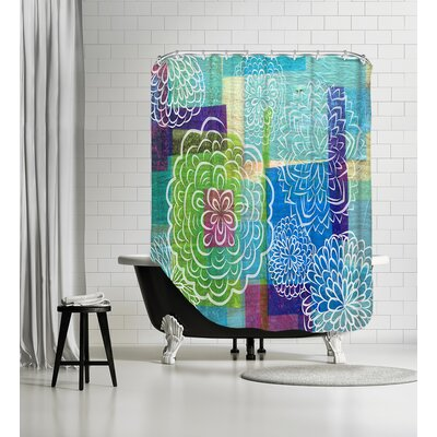 Garden on Wood Shower Curtain