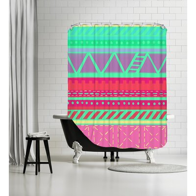 BeachBabeStripes CaraKozik Shower Curtain