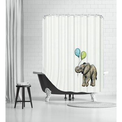Nursery Elephant Shower Curtain