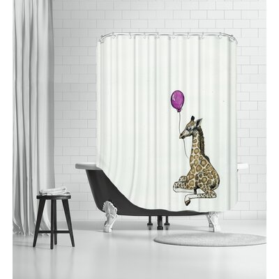 Nursery Giraffe Shower Curtain