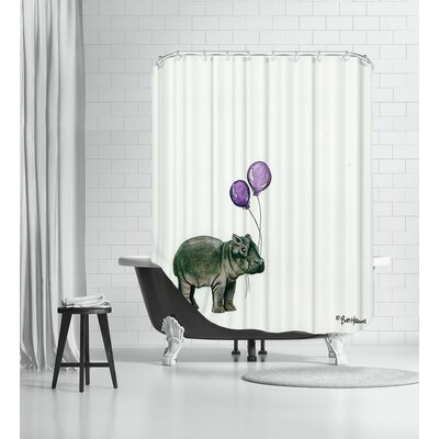 Nursery Hippo Shower Curtain