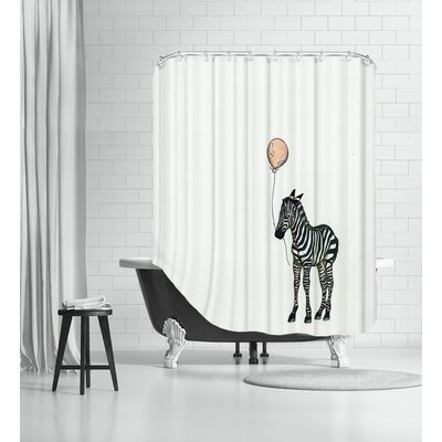 Nursery Zebra Shower Curtain