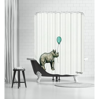 Nursery Rhino Shower Curtain
