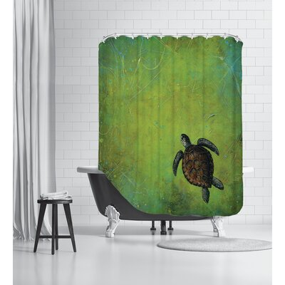 Slow and Steady Shower Curtain