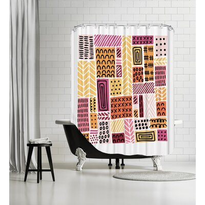 Color Crazed Shower Curtain