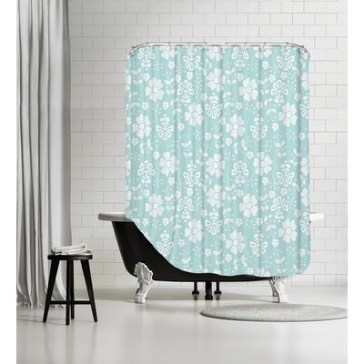 Organic Floral Shower Curtain
