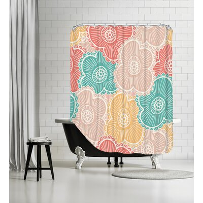 Springtime Floral Shower Curtain