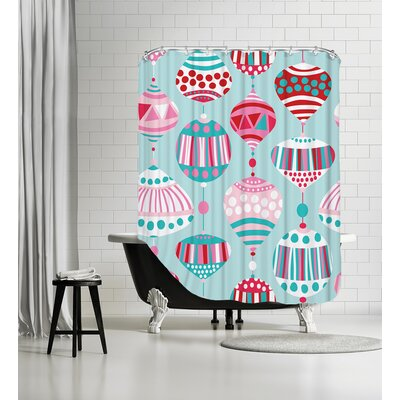 Christmas Baubles Shower Curtain