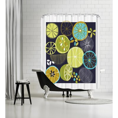 Luscious Limes Shower Curtain Color: Black