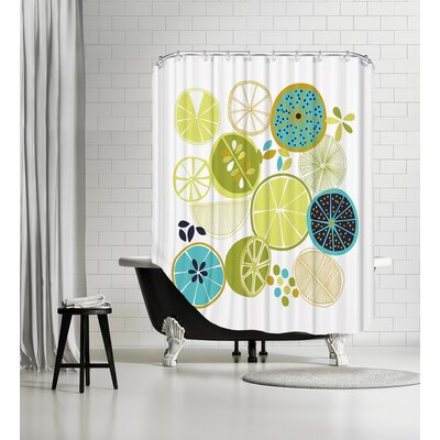 Luscious Limes Shower Curtain Color: White