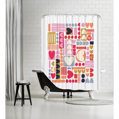 Mod Hearts Shower Curtain