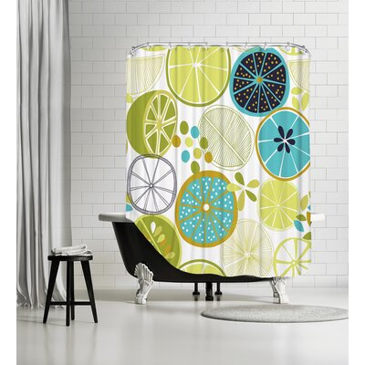 Luscious Limes 1 Shower Curtain Color: White