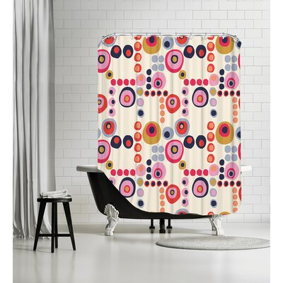 Mod Circles Light Shower Curtain