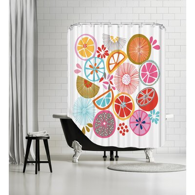 Oranges Shower Curtain Color: White