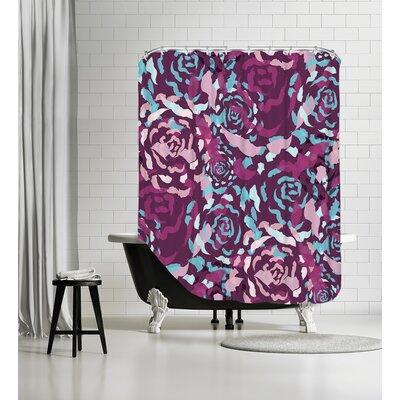 Rose Bouquet Shower Curtain Color: Plum