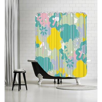 Brushed Bouquet Shower Curtain Color: Pastel