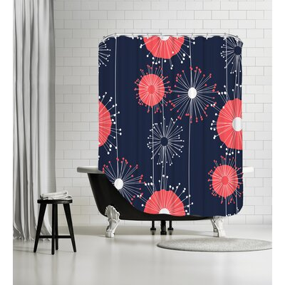 Dandelions Shower Curtain Color: Vivid
