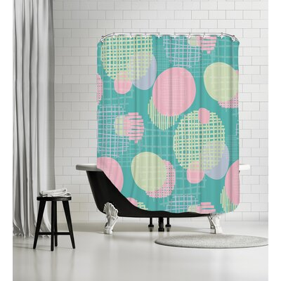 Planets Shower Curtain Color: Pastel