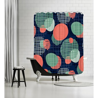 Planets Shower Curtain Color: Vivid