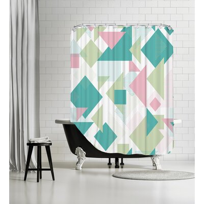 Scattered Angles Shower Curtain Color: Pastel