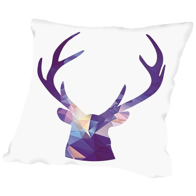 Deer Poly Throw Pillow Size: 16