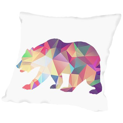 Bear Poly Throw Pillow Size: 18 H x 18 W x 2 D