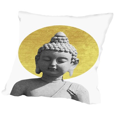 Buddha Throw Pillow Size: 14 H x 14 W x 2 D