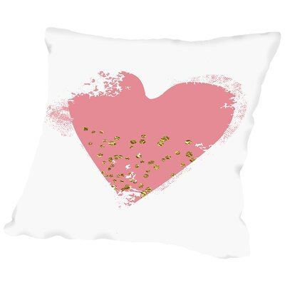 Heart Throw Pillow Size: 18 H x 18 W x 2 D, Color: Pink