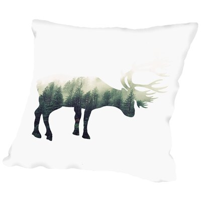 Deer Throw Pillow Size: 14 H x 14 W x 2 D