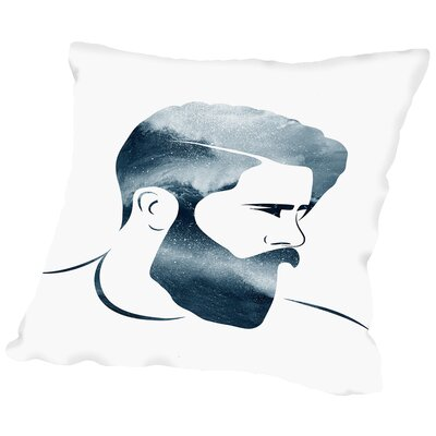 Man B Throw Pillow Size: 14 H x 14 W x 2 D