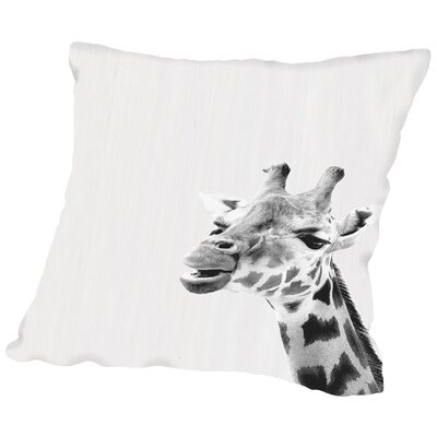 Water Giraffe Throw Pillow Size: 18 H x 18 W x 2 D
