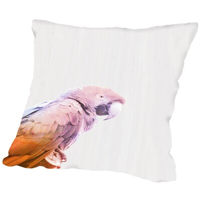 Water Parrot Throw Pillow Size: 14 H x 14 W x 2 D
