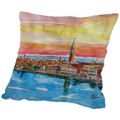 Fabulous Venice Italy with Snowcovered Alps2 Throw Pillow Size: 16 H x 16 W x 2 D