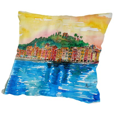 Picturesque Portofino Ligure Italy2 Throw Pillow Size: 14 H x 14 W x 2 D