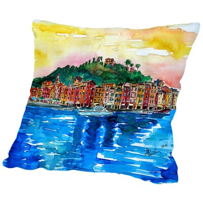Picturesque Portofino Ligure Italy Throw Pillow Size: 18 H x 18 W x 2 D