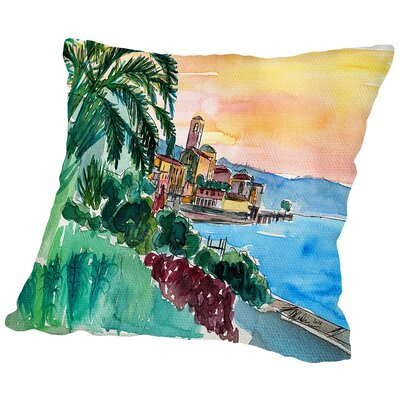 Wonderful Lago Maggiore Italy2 Throw Pillow Size: 14 H x 14 W x 2 D