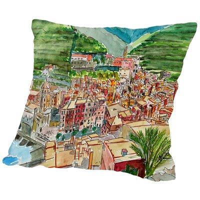 Vernazza A Dream of Romantic Italy Throw Pillow Size: 16 H x 16 W x 2 D
