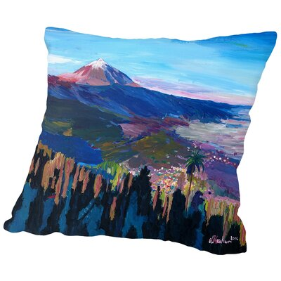 Teide Tenerife Spain Canary Islands Astonishing View Orotava Valley Throw Pillow Size: 16 H x 16 W x 2 D