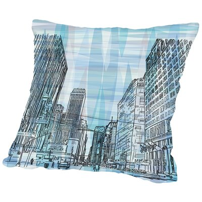 16B11 NYC Blend Throw Pillow Size: 16 H x 16 W x 2 D